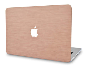 Macbook Case - Leather Collection - Nude Pink Saffiano Leather