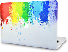 Load image into Gallery viewer, Macbook Case 5 in 1 Bundle - Paint Collection - Rainbow Splat with Sleeve, Keyboard Cover, Screen Protector and Webcam Cover