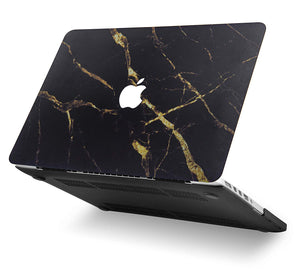 Macbook Case - Marble Collection - Black Gold Marble