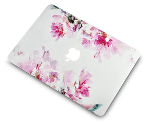 Macbook Case 5 in 1 Bundle - Flower Collection - Flower 22 with Sleeve, Keyboard Cover, Screen Protector and USB Hub 3.0