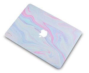 Macbook Case - Marble Collection - Purple Marble with Pink Veins
