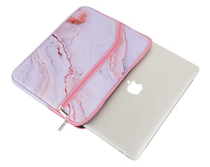 Macbook Case Bundle - Marble Collection - Pink Marble with Sleeve