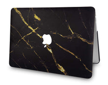 Load image into Gallery viewer, Macbook Case - Marble Collection - Black Gold Marble