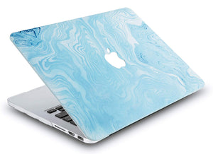 Macbook Case - Marble Collection - Blue White Marble 4