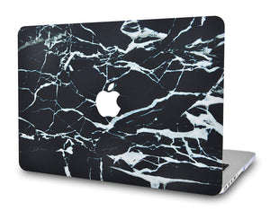 Macbook Case - Marble Collection - Black Marble with White Veins