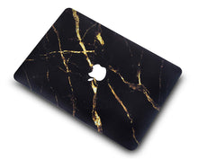 Load image into Gallery viewer, Macbook Case Bundle - Marble Collection - Black Gold Marble with Keyboard Cover