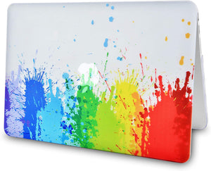 Macbook Case Bundle - Paint Collection - Rainbow Splat with Sleeve, Keyboard Cover and Screen Protector