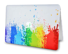 Load image into Gallery viewer, Macbook Case Bundle - Color Collection - Rainbow Splat with Keyboard Cover