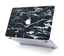 Load image into Gallery viewer, Macbook Case - Marble Collection - Black Marble with White Veins