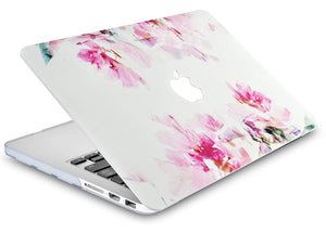 Macbook Case Bundle - Flower Collection - Flower 22 with Keyboard Cover and Screen Protector