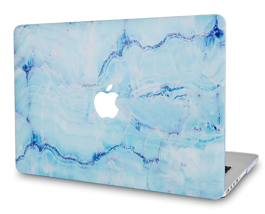 Macbook Case - Marble Collection - Blue Marble with Blue Veins