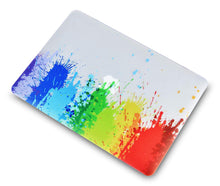 Load image into Gallery viewer, Macbook Case Bundle - Color Collection - Rainbow Splat with Keyboard Cover and Screen Protector