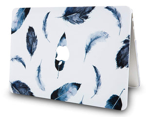 Macbook Case - Paint Collection - Black Feather