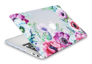 Macbook Case Bundle - Flower Collection - Anemone Flower with Keyboard Cover