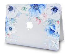 Load image into Gallery viewer, Macbook Case Bundle - Flower Collection - Blue and White Poppy with Keyboard Cover