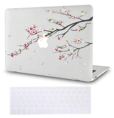 Macbook Case Bundle - Flower Collection - Sakura Fall with Keyboard Cover
