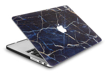 Load image into Gallery viewer, Macbook Case - Marble Collection - Navy White Marble