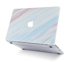 Macbook Case - Marble Collection - Blue Marble with Brown Veins