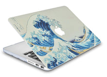 Load image into Gallery viewer, Macbook Case Bundle - Paint Collection - Japanese Wave with Keyboard Cover