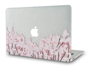 Macbook Case Bundle - Flower Collection - Pink Sakura Tree with Keyboard Cover