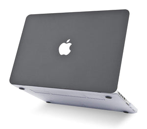 Macbook Case - Leather Collection - Grey Leather