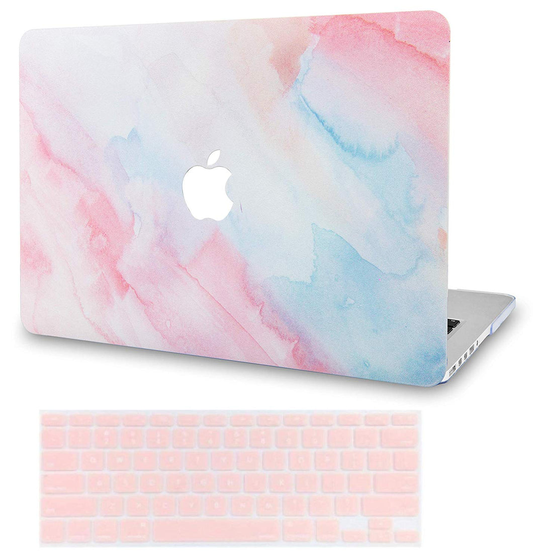 Macbook Case Bundle - Paint Collection - Pale Pink Mist with Keyboard Cover
