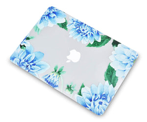 Macbook Case Bundle - Flower Collection - Blue Cornflower with Keyboard Cover