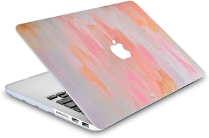 Macbook Case 5 in 1 Bundle - Paint Collection - Mist 13 with Sleeve, Keyboard Cover, Screen Protector and Webcam Cover