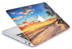 Macbook Case - Color Collection - Sunset with Matching Keyboard Cover and Screen Protector ,Sleeve ,USB Hub