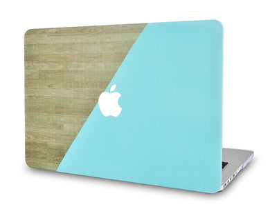 Macbook Case - Wood Collection - Green Brown Wood