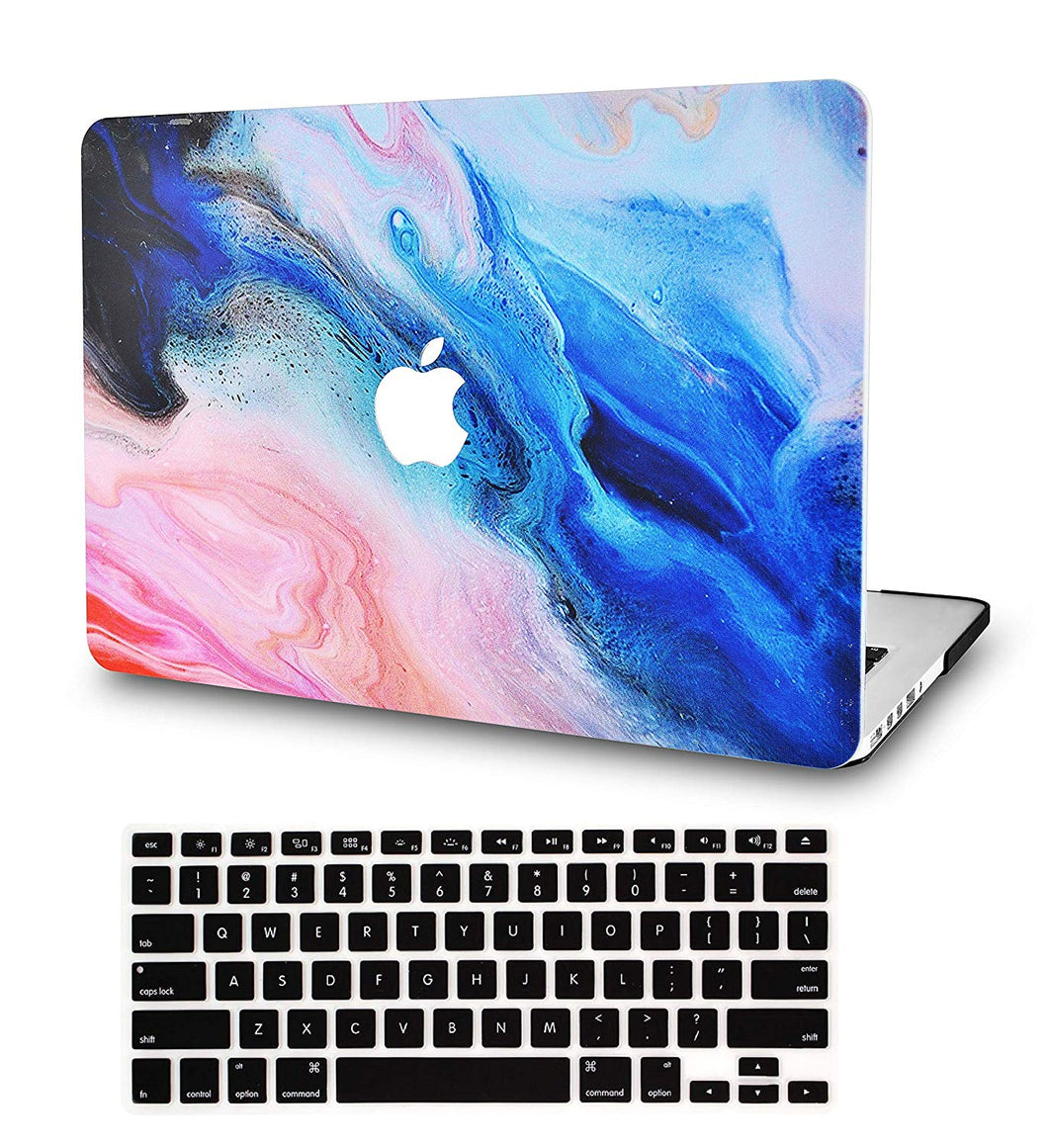 Macbook Case Bundle - Paint Collection - Oil Paint 4 with Keyboard Cover