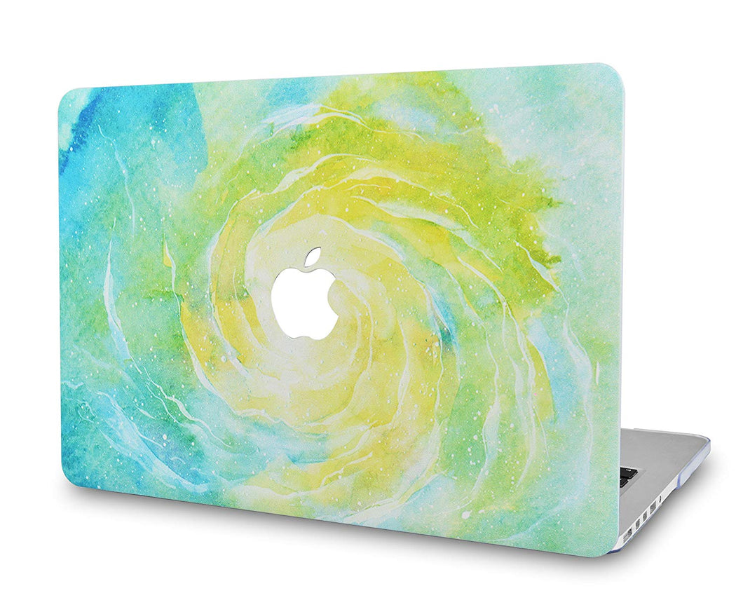 Macbook Case - Marble Collection - Green Yellow Marble