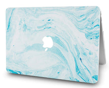 Load image into Gallery viewer, Macbook Case - Marble Collection - Blue White Marble 1