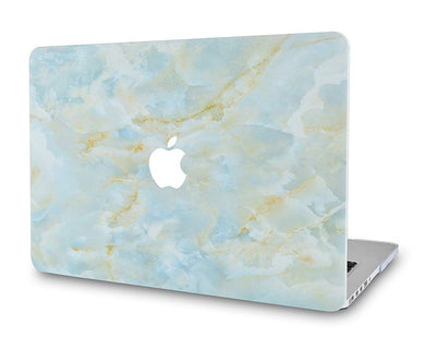 Macbook Case - Marble Collection - Grey Marble with Gold Veins