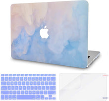 Load image into Gallery viewer, Macbook Case Bundle - Paint Collection - Blue Mist with Keyboard Cover and Screen Protector