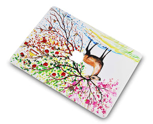 Macbook Case - Paint Collection - Four Season Tree 2