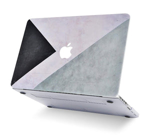 Macbook Case Bundle - Color Collection - Black White Grey with Sleeve, Keyboard Cover and Screen Protector