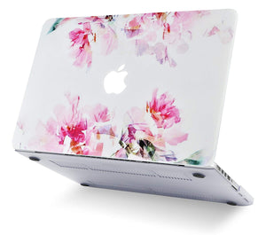 Macbook Case 4 in 1 Bundle - Flower Collection - Flower 22 with Keyboard Cover, Screen Protector and Pouch
