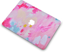 Load image into Gallery viewer, Macbook Case 5 in 1 Bundle - Marble Collection - Pink Mist 2 with Slim Sleeve, Keyboard Cover, Screen Protector and Pouch