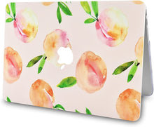 Load image into Gallery viewer, Macbook Case 5 in 1 Bundle - Marble Collection - Orange with Slim Sleeve, Keyboard Cover, Screen Protector and Pouch