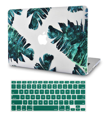 Macbook Case Bundle - Flower Collection - Palm Breeze with Keyboard Cover