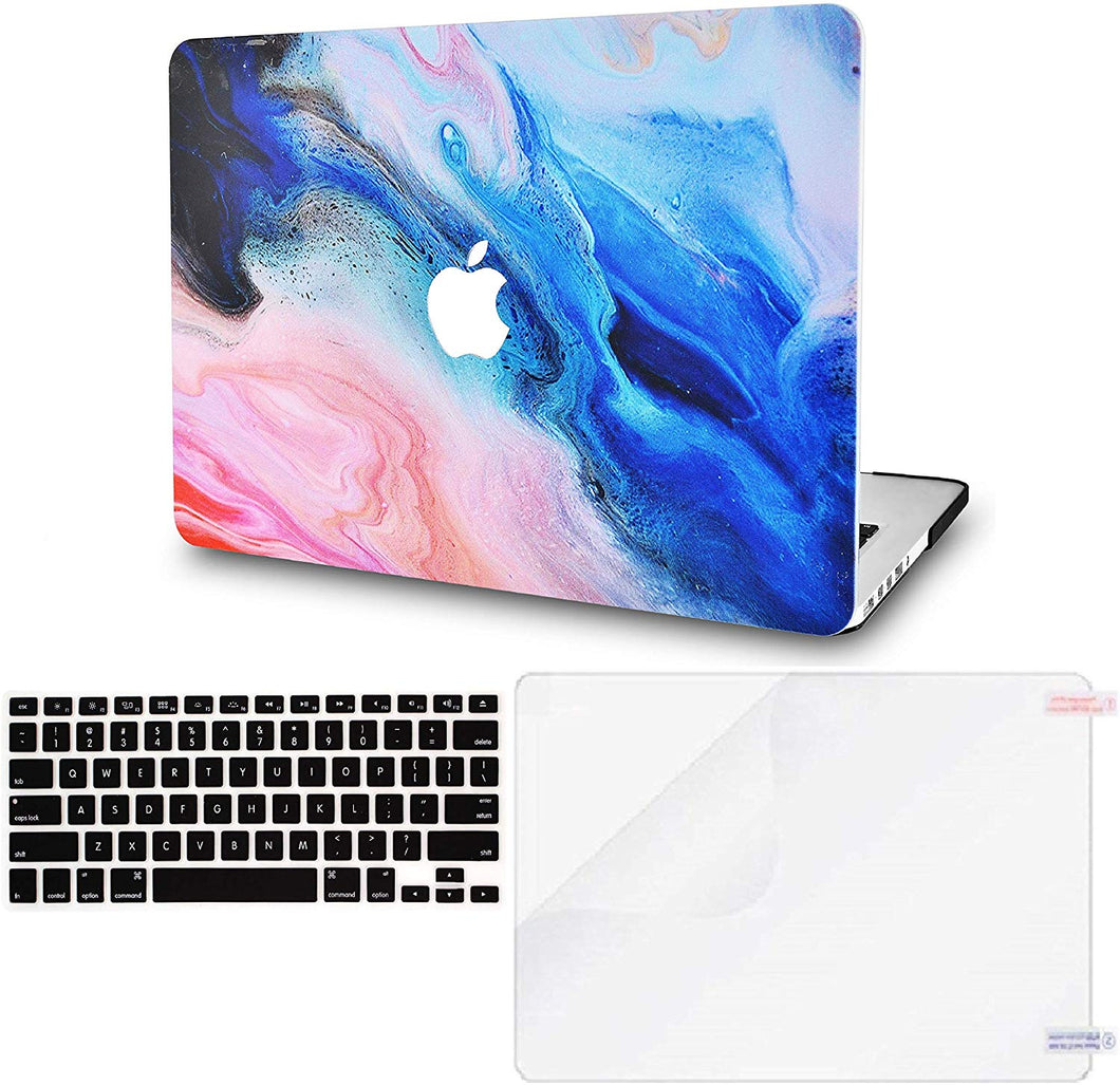 Macbook Case Bundle - Paint Collection - Oil Paint 4 with Keyboard Cover and Screen Protector