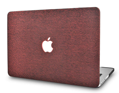 Macbook Case - Leather Collection - Red Wine Leather