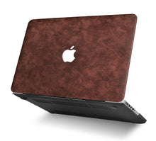 Load image into Gallery viewer, Macbook Case Bundle - Leather Collection - Brown Cow Leather with Keyboard Cover