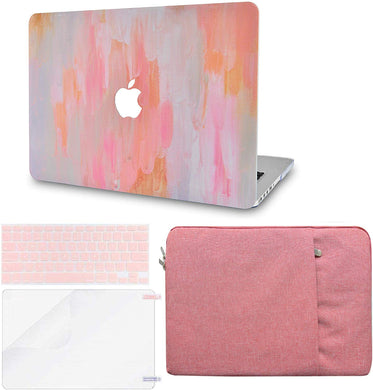 Macbook Case Bundle - Paint Collection - Mist 13 with Keyboard Cover and Screen Protector and Sleeve