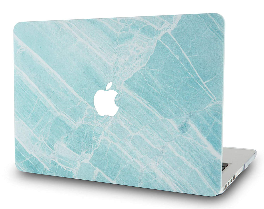 Macbook Case - Marble Collection - Blue White Marble 2