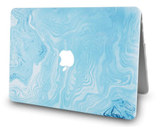 Load image into Gallery viewer, Macbook Case - Marble Collection - Blue White Marble 4