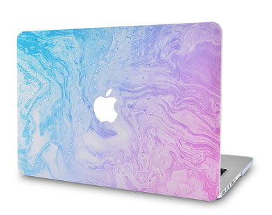 Macbook Case - Marble Collection - Teal and Purple Marble