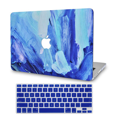 Macbook Case Bundle - Paint Collection - Oil Paint 5 with Keyboard Cover