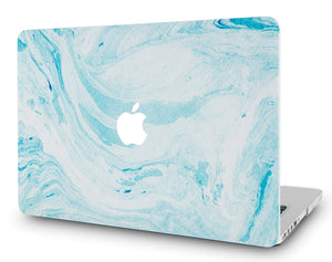 Macbook Case - Marble Collection - Blue White Marble 1